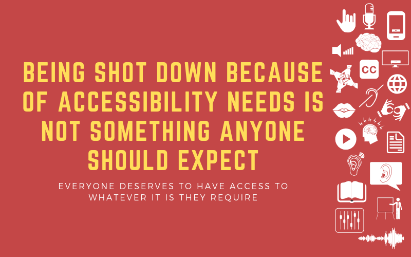 Image for post about being shot down because of accessibilty needs that no-one should have to face