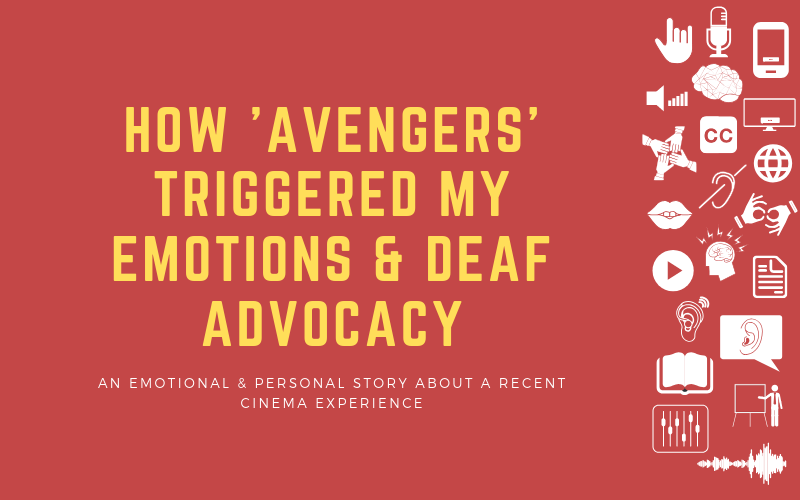 Image for personal and emotional post about how a recent an experience watching Avengers has made it an emotional experience