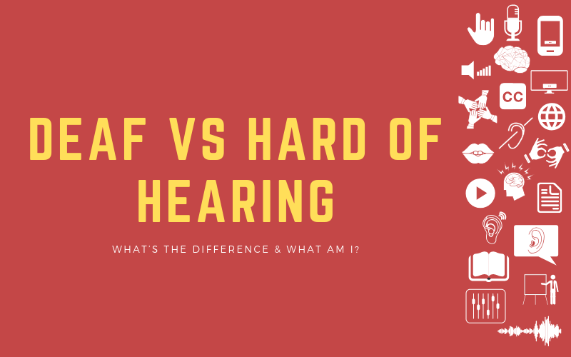 Header image for post about the difference between deaf vs hard of hearing, and which one am I