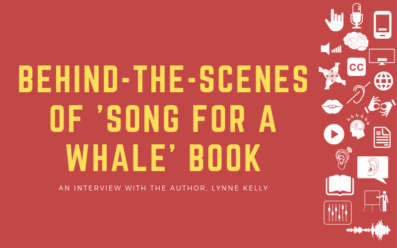 Header image for interview post with Lynne Kelly about her book 'Song for a Whale'