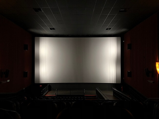 Empty seats in front a cinema screen