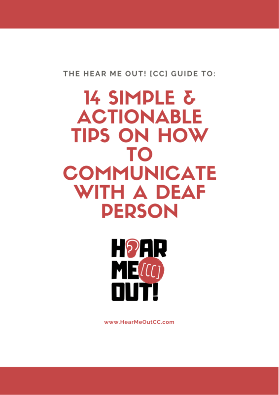 Cover of guide with title: '14 Simple & Actionable Tips on How to Communicate With a Deaf Person'