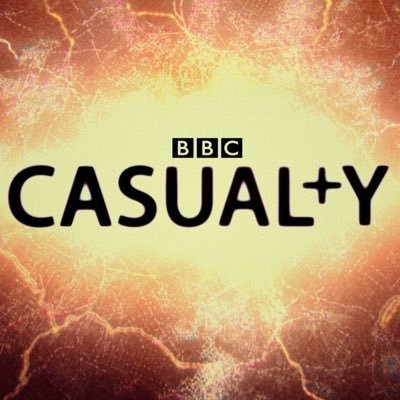 BBC Casualty logo (with the 't' marked as a cross)