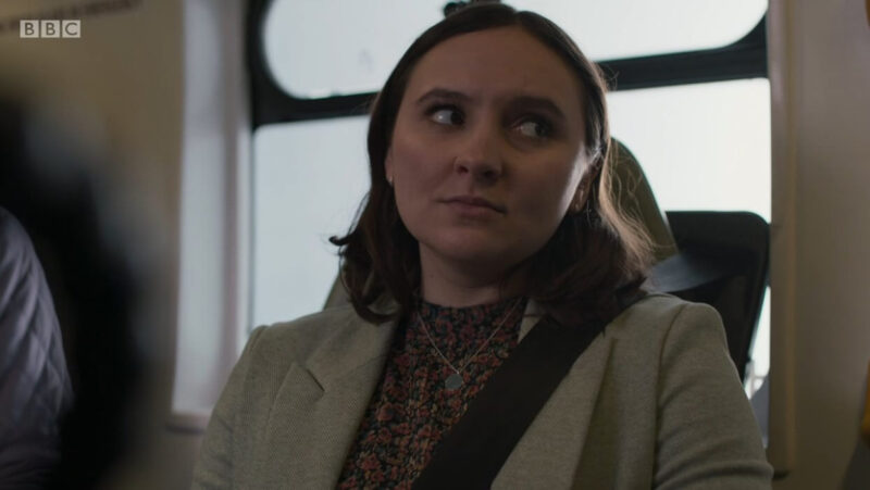 Clip of Casualty where Jade is rolling her eyes in the ambulance